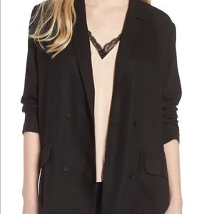 Trouvé Drapey Double Breasted Black Blazer